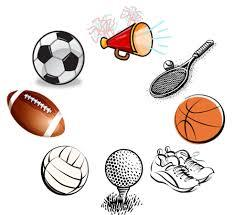 Image of sports related items