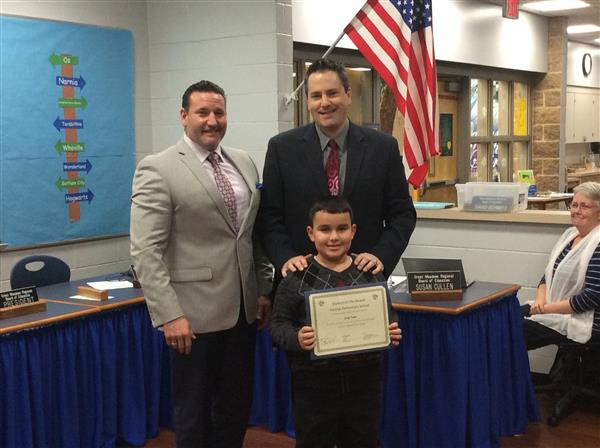Central Elementary Student Of The Month Photo.