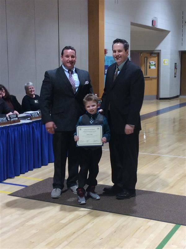 Central Elementary Student of the Month for February 2019 Matthew Hickey.