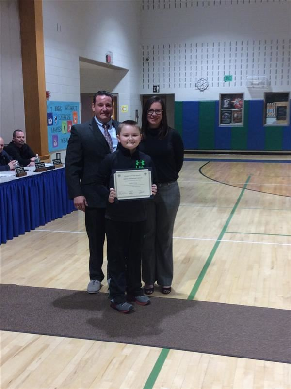February student of the month for Liberty Elementary is Jaxson Young.