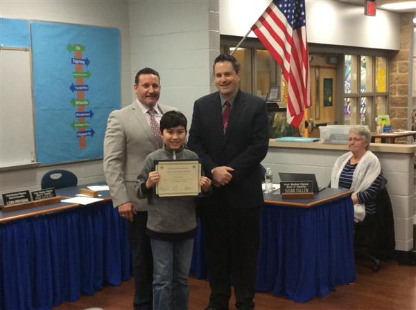 Liberty Elementary Student Of The Month Photo.