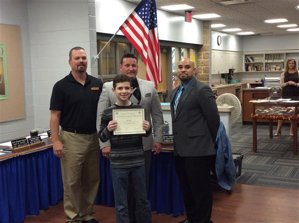 GMMS October Student of the Month photo